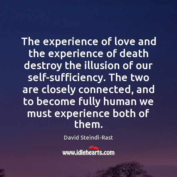 Image, The experience of love and the experience of death destroy the illusion