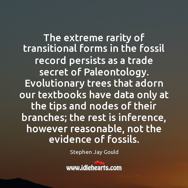 Image, The extreme rarity of transitional forms in the fossil record persists as