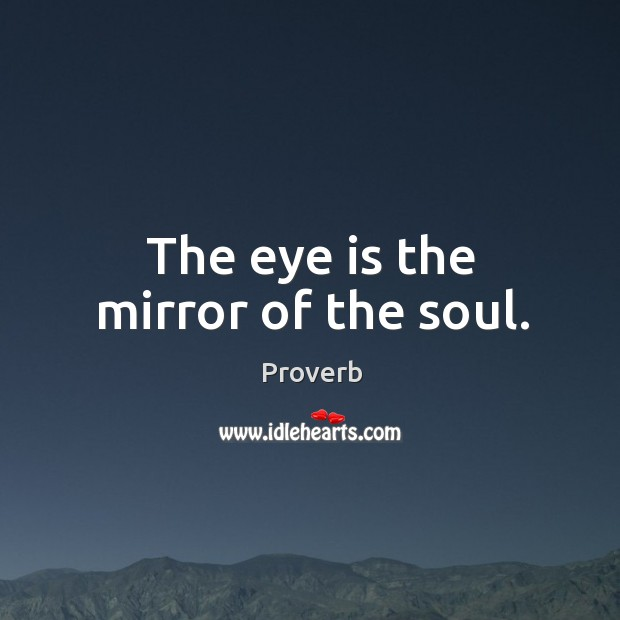 The eye is the mirror of the soul. Image