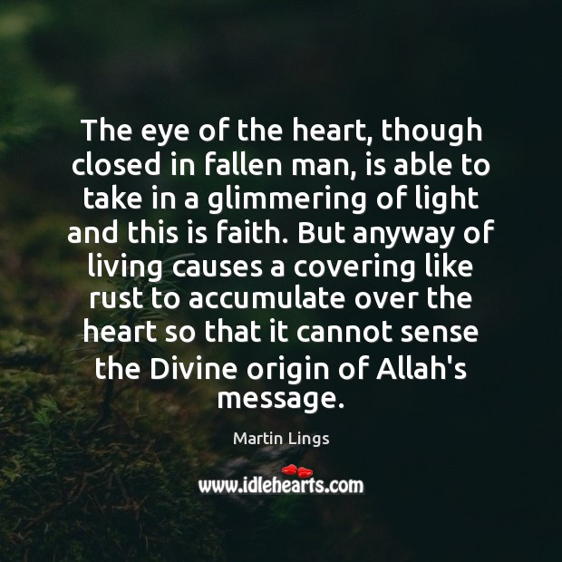The eye of the heart, though closed in fallen man, is able Image