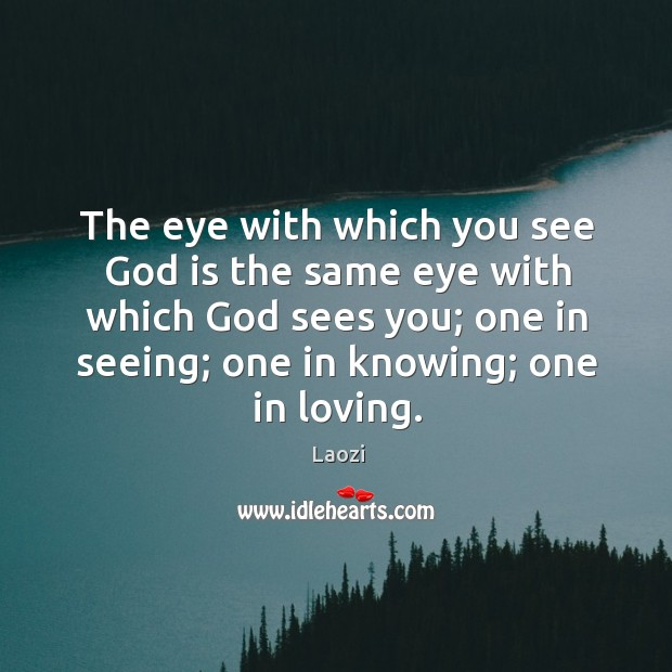 Image, The eye with which you see God is the same eye with