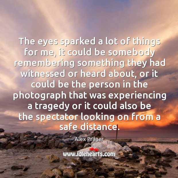 The eyes sparked a lot of things for me, it could be Image