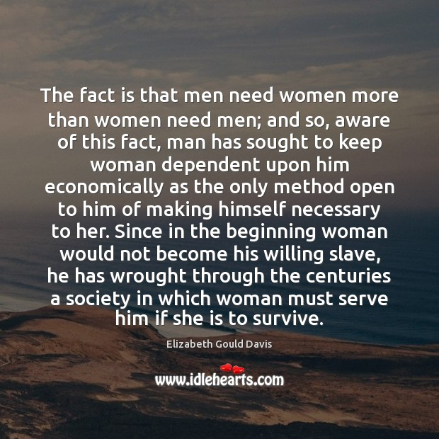 In why lives need their men women 4 Reasons