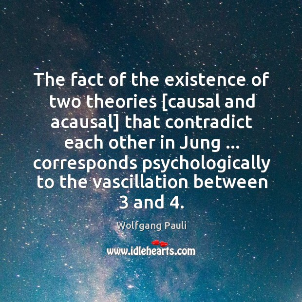 The fact of the existence of two theories [causal and acausal] that Image