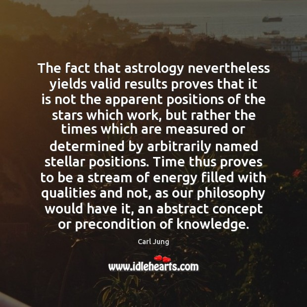 The fact that astrology nevertheless yields valid results proves that it is Astrology Quotes Image