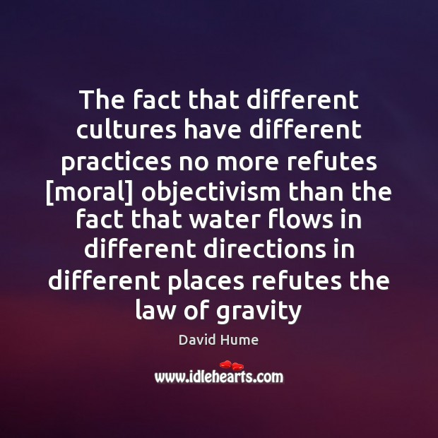 The fact that different cultures have different practices no more refutes [moral] Image