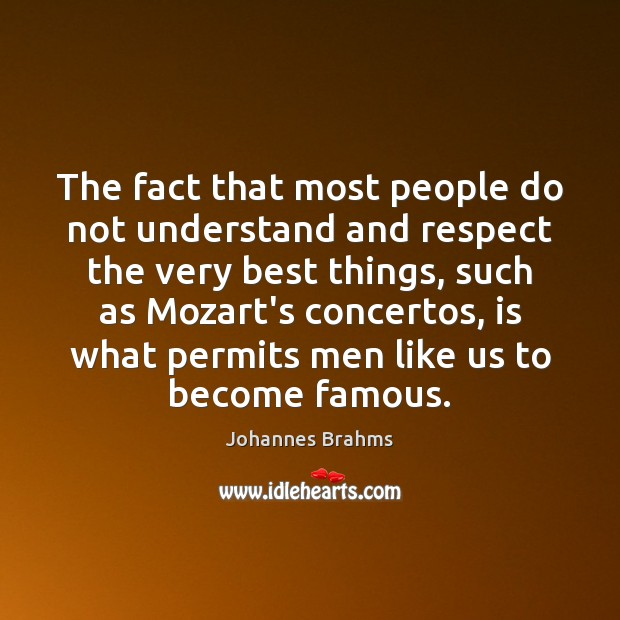 The fact that most people do not understand and respect the very Image