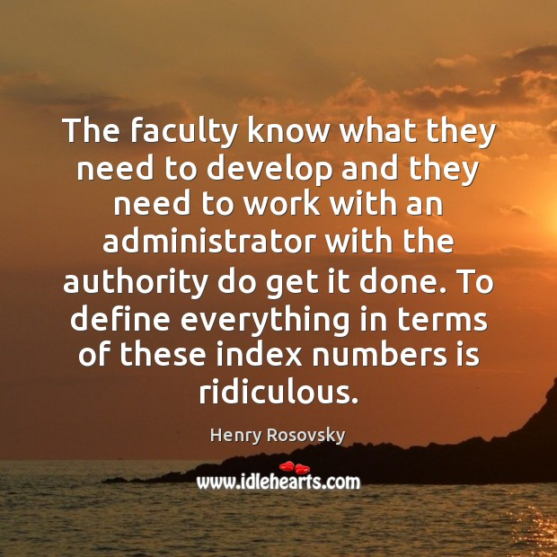 Image, The faculty know what they need to develop and they need to