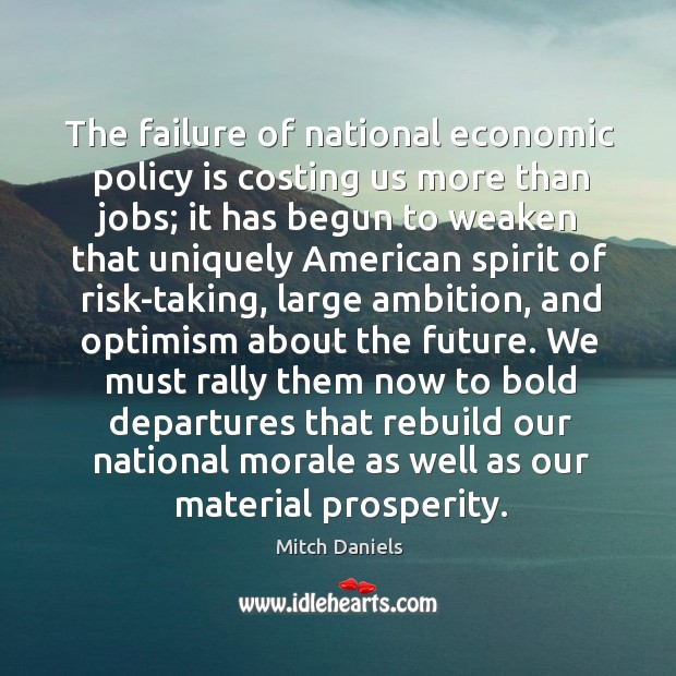 The failure of national economic policy is costing us more than jobs; it has begun to weaken Image