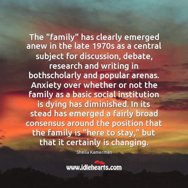 """The """"family"""" has clearly emerged anew in the late 1970s as a Image"""