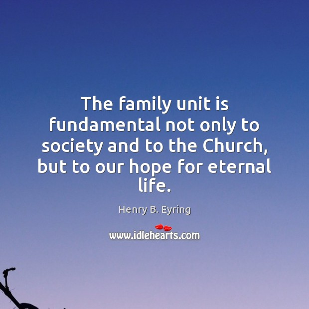 Image, The family unit is fundamental not only to society and to the
