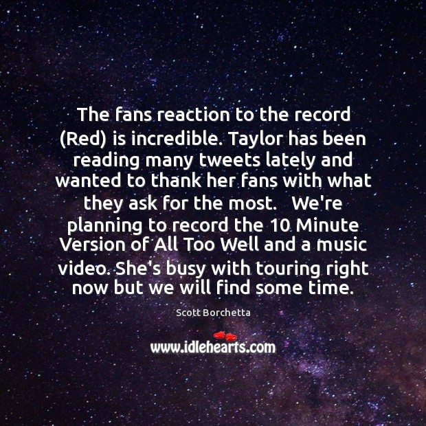 Image, The fans reaction to the record (Red) is incredible. Taylor has been