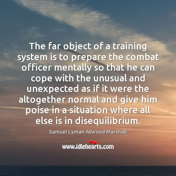 The far object of a training system is to prepare the combat Image