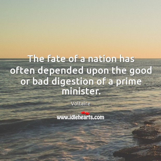 Image, The fate of a nation has often depended upon the good or