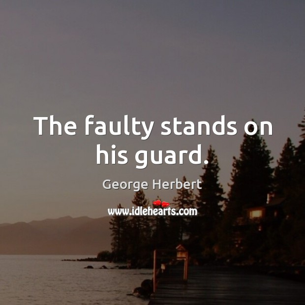 Image, The faulty stands on his guard.
