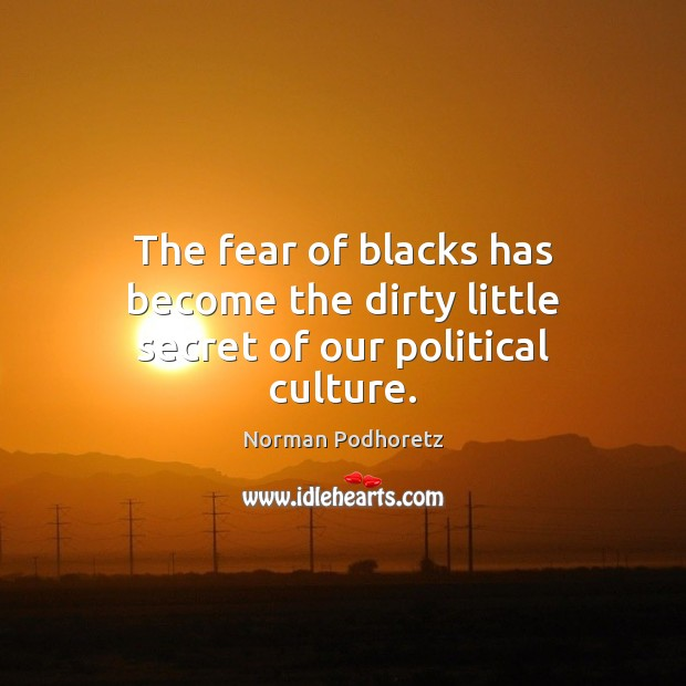 The fear of blacks has become the dirty little secret of our political culture. Image
