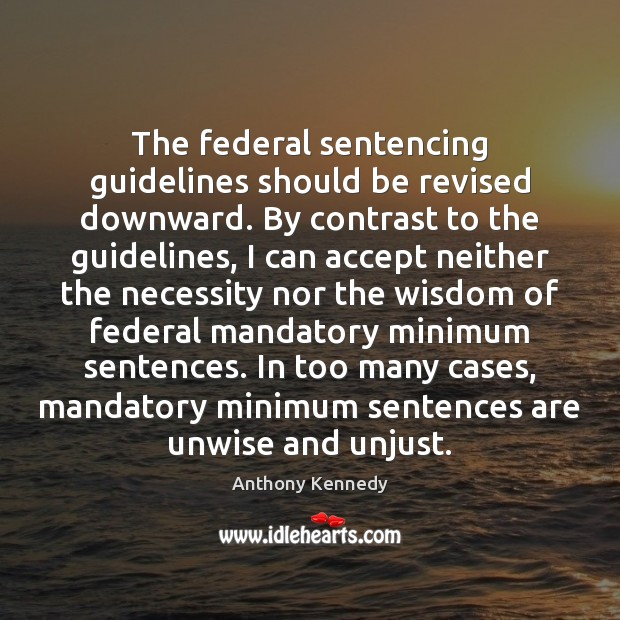 Image, The federal sentencing guidelines should be revised downward. By contrast to the