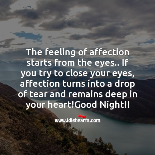Image, The feeling of affection starts from the eyes..