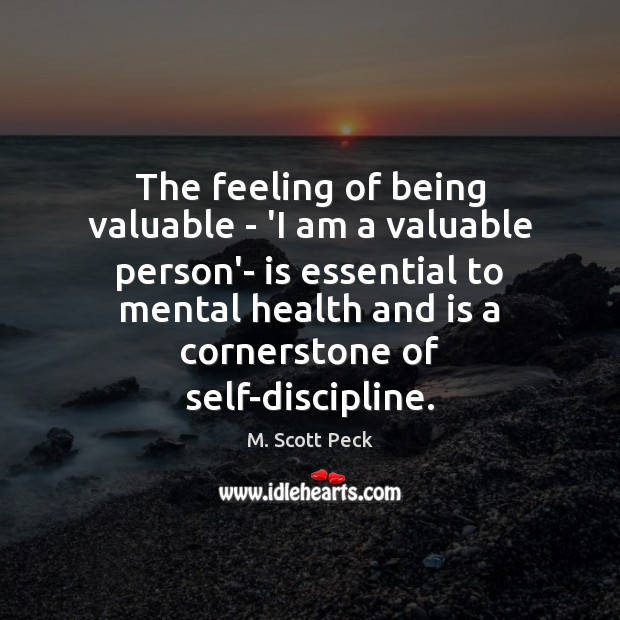 Image, The feeling of being valuable – 'I am a valuable person'- is
