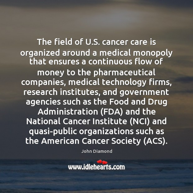 Image, The field of U.S. cancer care is organized around a medical