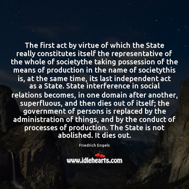 The first act by virtue of which the State really constitutes itself Image