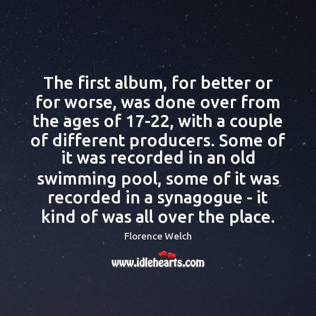 Image, The first album, for better or for worse, was done over from