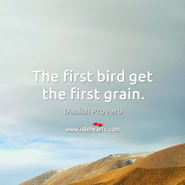 Image, The first bird get the first grain.