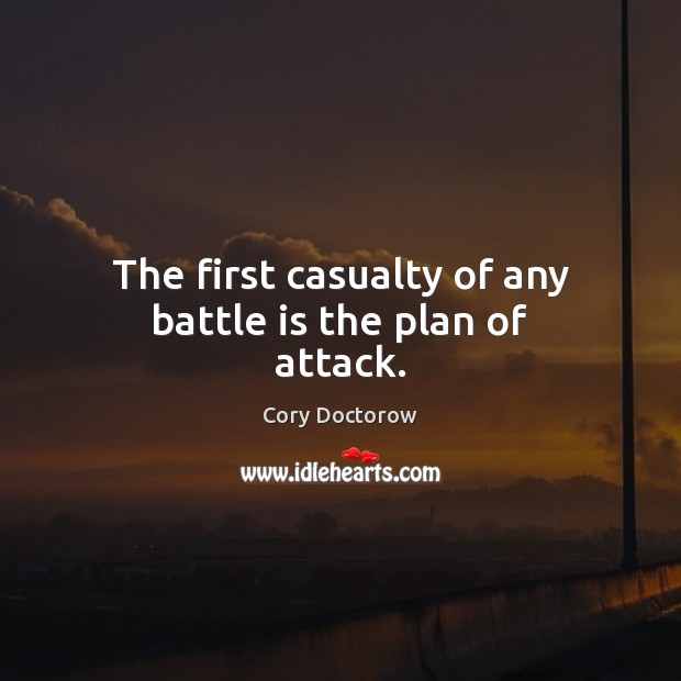 Image, The first casualty of any battle is the plan of attack.