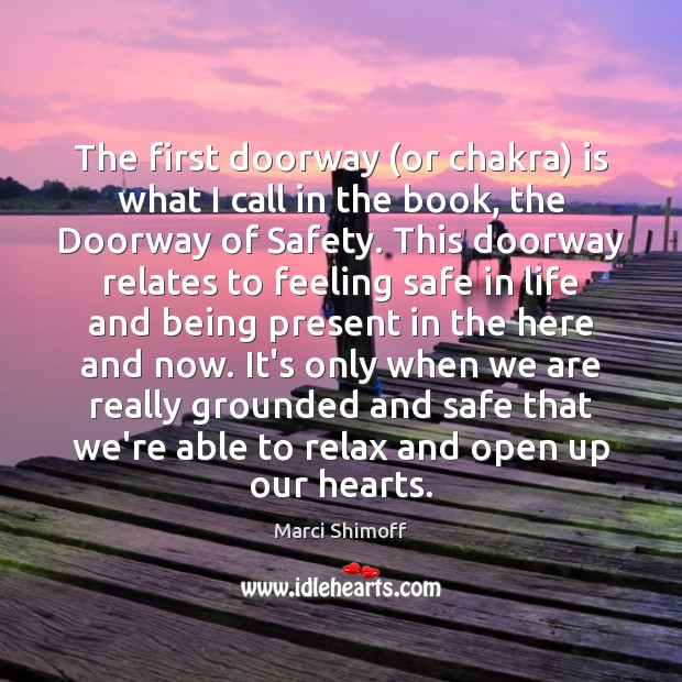 Image, The first doorway (or chakra) is what I call in the book,