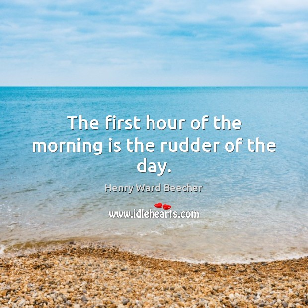 the first hour of a day It refers to the first hour of the day when everybody is energetic enough to be do productive work it is generally 9 am to 10am but depending on the work.