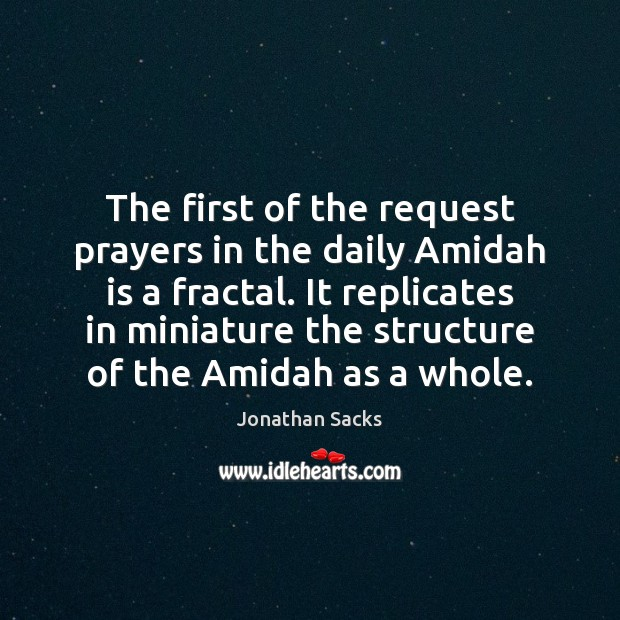 The first of the request prayers in the daily Amidah is a Jonathan Sacks Picture Quote