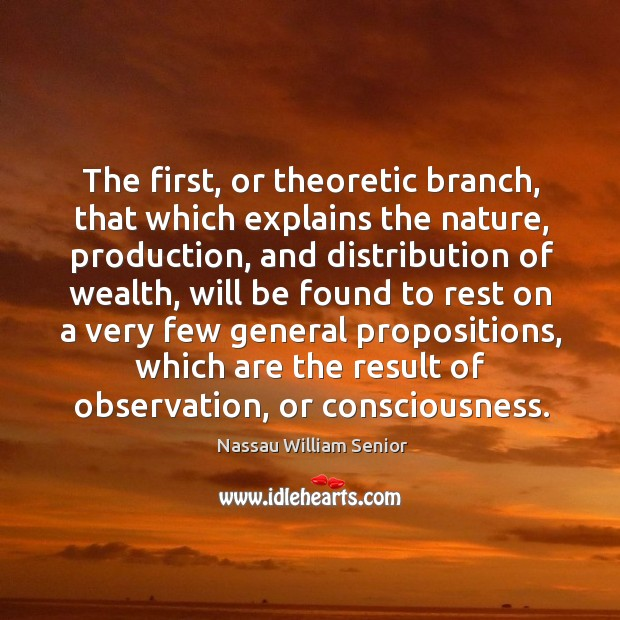 Image, The first, or theoretic branch, that which explains the nature, production.