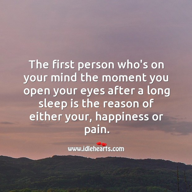Image, The first person who's on your mind the moment you open your eyes