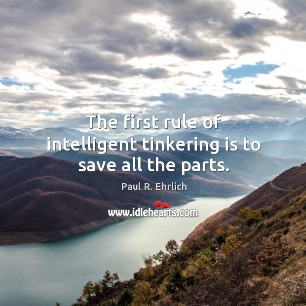 The first rule of intelligent tinkering is to save all the parts. Image