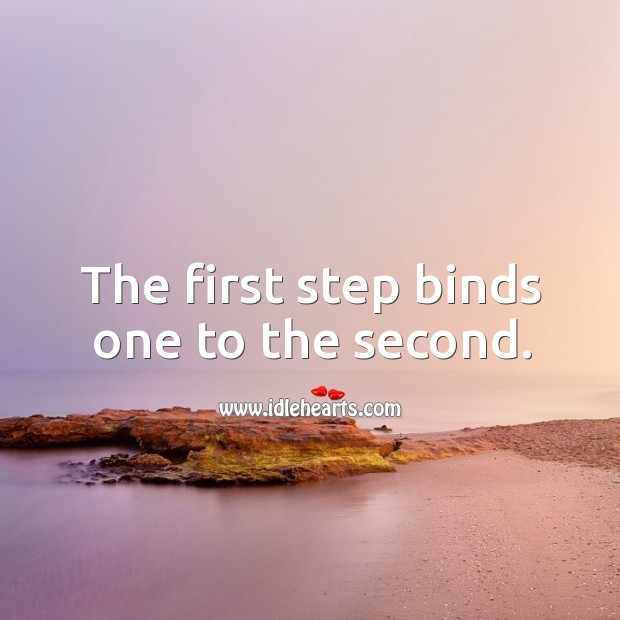 The first step binds one to the second. Image