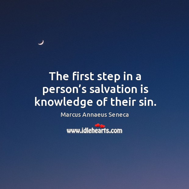 The first step in a person's salvation is knowledge of their sin. Image