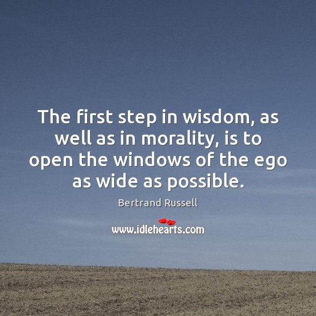 The first step in wisdom, as well as in morality, is to Image