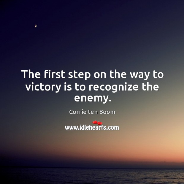 The first step on the way to victory is to recognize the enemy. Image