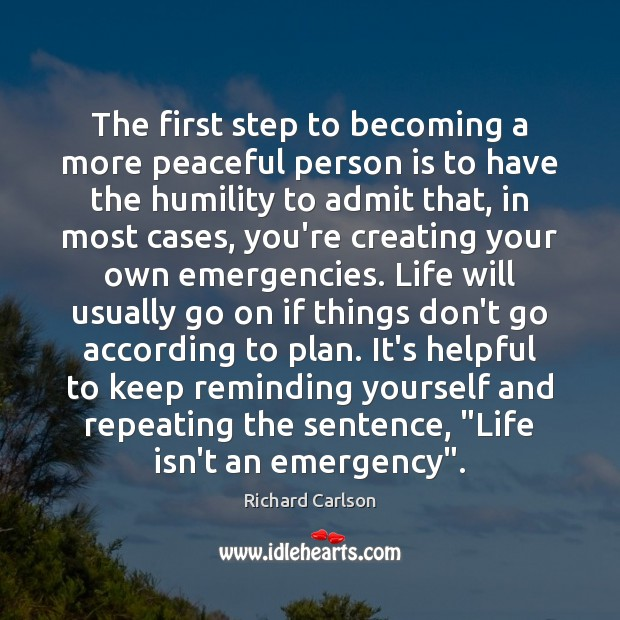 Image, The first step to becoming a more peaceful person is to have