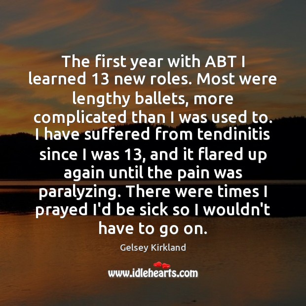 Image, The first year with ABT I learned 13 new roles. Most were lengthy