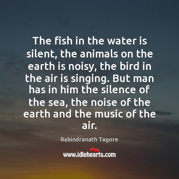 Image, The fish in the water is silent, the animals on the earth