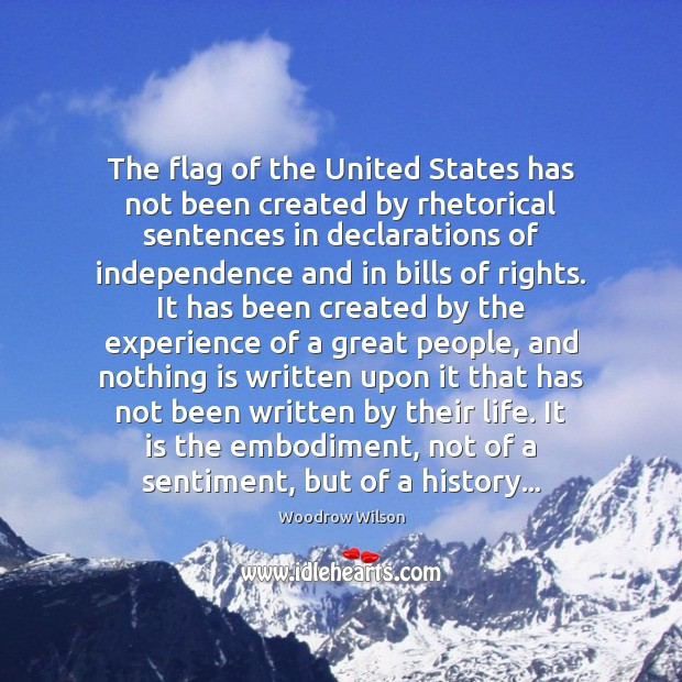 Image, The flag of the United States has not been created by rhetorical