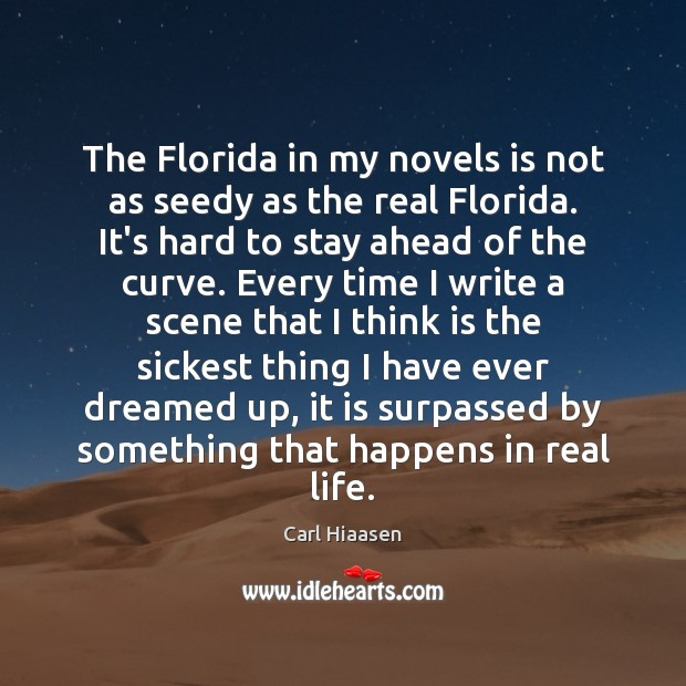 The Florida in my novels is not as seedy as the real Image