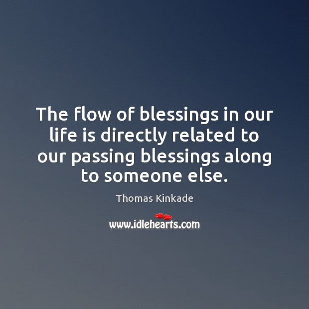 The flow of blessings in our life is directly related to our Image