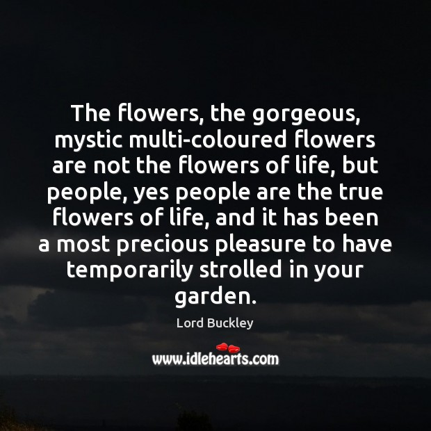 The flowers, the gorgeous, mystic multi-coloured flowers are not the flowers of Image