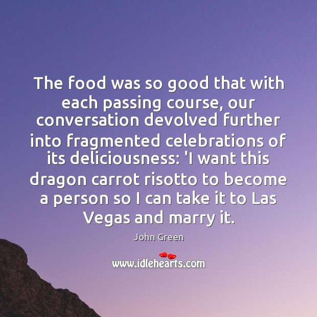 The food was so good that with each passing course, our conversation Image