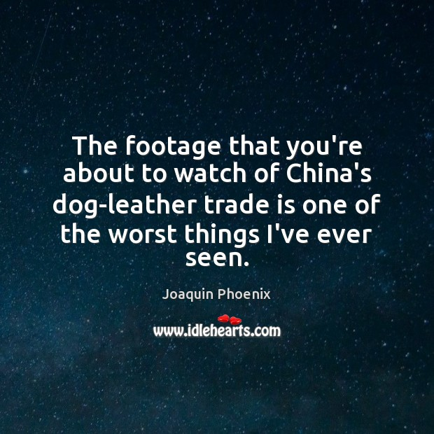 Image, The footage that you're about to watch of China's dog-leather trade is