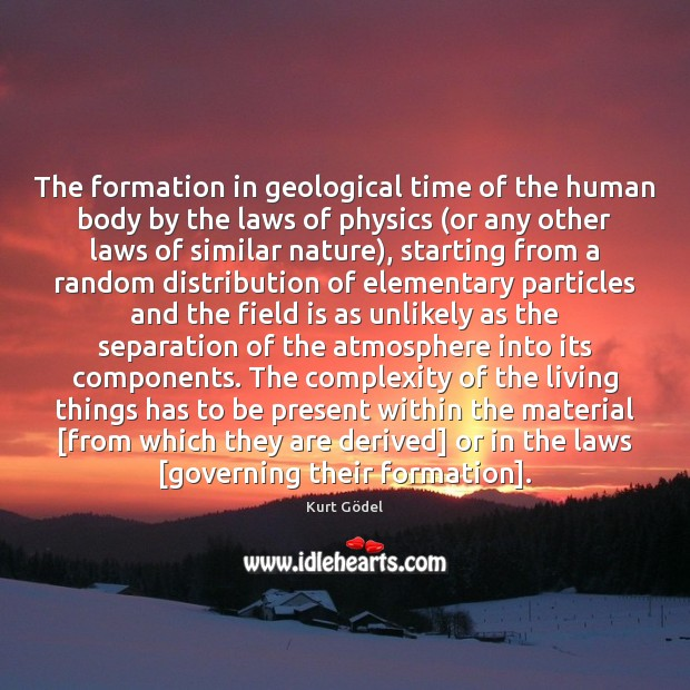 The formation in geological time of the human body by the laws Image
