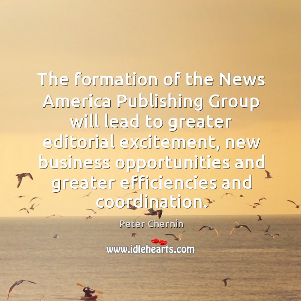 The formation of the news america publishing group will lead to greater editorial excitement Image