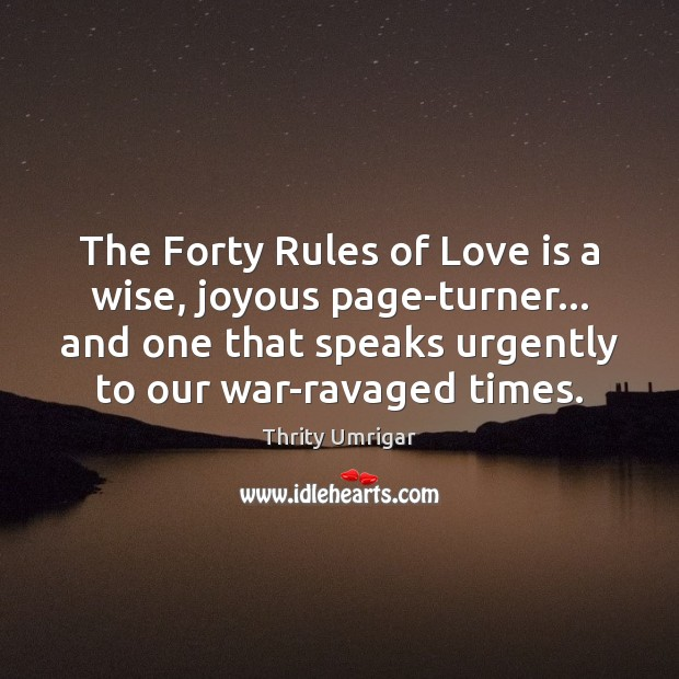 The Forty Rules of Love is a wise, joyous page-turner… and one Image